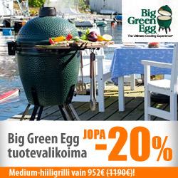 Big Green Egg -tuotteet jopa -20%