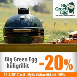 Big Green Egg -hiiligrillit -20%