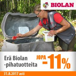 Erä Biolan-tuotteita jopa -11%