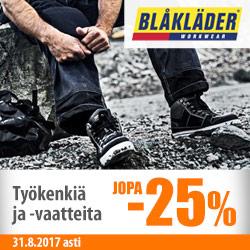 Blåkläder-työkenkiä ja -vaatteita jopa -25%