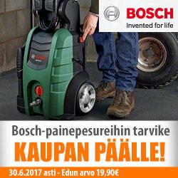Bosch-painepesureihin tarvike kaupan päälle!