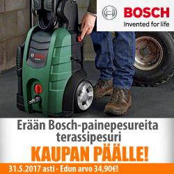 Erään Bosch-painepesureita terassipesuri kaupan päälle!