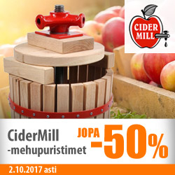 Cidermill-mehupuristimet jopa -50%