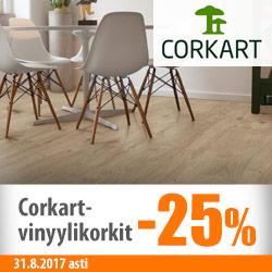 Corkart-vinyylikorkit -25%