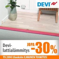 Devi-lattialämmitystuotteet jopa -30%