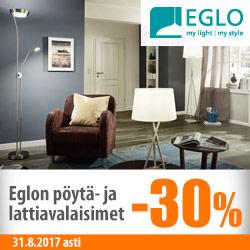 Eglon pöytä- ja lattiavalaisimet -30%