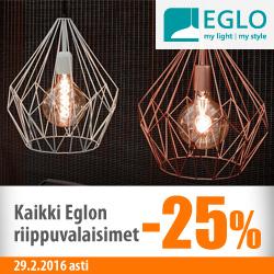 Eglon riippuvalaisimet -25%