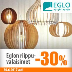 Eglon rippuuvalaisimet -30%