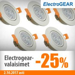 Electrogear-valaisimet -25%