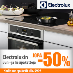 Electrolux-kodinkonepaketit jopa -50%