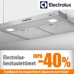 Electrolux-liesituulettimet jopa -40%