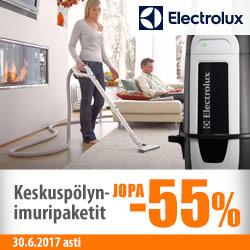 Electrolux-keskuspölynimurijärjestelmät jopa -55%