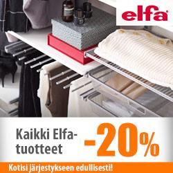 Kaikki Elfa-tuotteet -20%