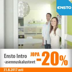 Ensto Intro -asennuskalusteet jopa -20%