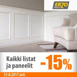 Erzo Décor -paneelit ja -listat -15%