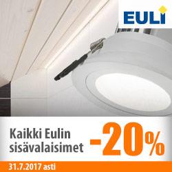 Euli-sisävalaisimet -20%