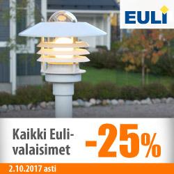 Kaikki Euli-valaisimet -25%