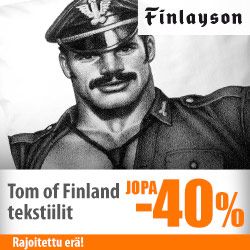 Finlaysonin Tom of Finland -tuotteet jopa -40%
