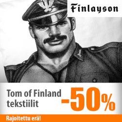 Finlaysonin Tom of Finland -tuotteet -50%