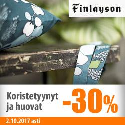 Finlayson-koristetyynyt ja huovat -30%