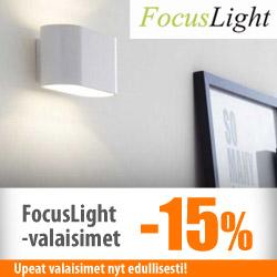 Focuslight-valaisimet -15%
