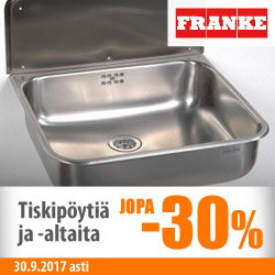 Franken teräsaltaat ja tiskipöydät jopa -30%