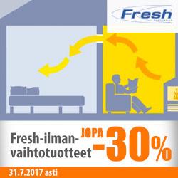 Fresh-ilmanvaihtotuotteet jopa -30%