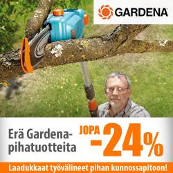 Erä Gardena-pihatuotteita jopa -24%