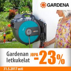 Gardenan letkukelat jopa -23%