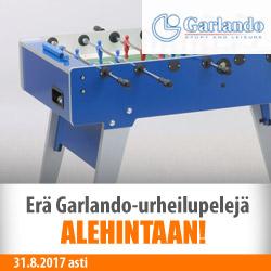 Erä Garlando-urheilupelejä ALEhintaan!