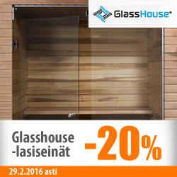 Glasshouse-lasiseinät -20%