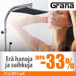 Erä Granan hanoja ja suihkuja jopa -33%