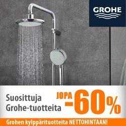 Suosittuja Grohe-tuotteita jopa -60%