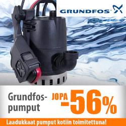 Grundfos-pumput jopa -56%