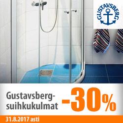 Gustavsberg-suihkukulmat -30%