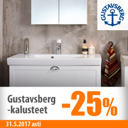 Gustavsbergs-kylpyhuonekalusteet -25%