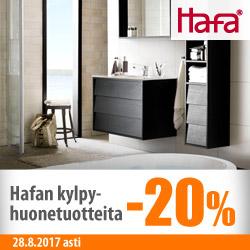 Hafan kylpyhuonetuotteita -20%