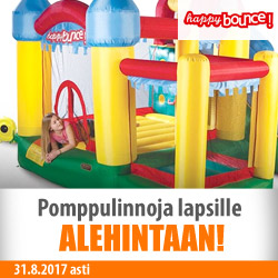 Happy Bounce -pomppulinnoja ALEhintaan!