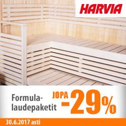 Harvian Formula-laudepaketit jopa -29%