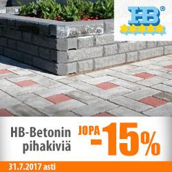 HB-betonin pihakiviä jopa -15%
