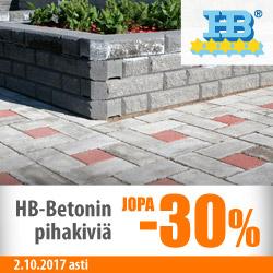 HB Betonin pihakiviä jopa -30%