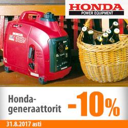 Honda-generaattorit -10%