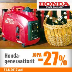 Honda-generaattorit jopa -27%