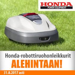 Honda-robottiruohonleikkureita ALE-hintaan!