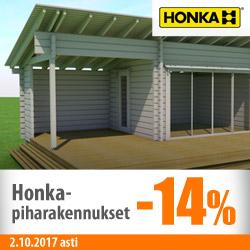 Honka-piharakennukset -14%