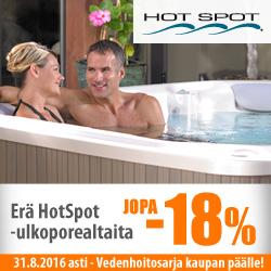 Erä Hotspot-ulkoporealtaita -18% + vedenhoitosarja kaupan päälle!