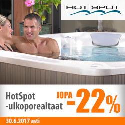 HotSpot-ulkoporealtaat jopa -22%