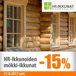 HR-ikkunoiden mökki-ikkunat -15%