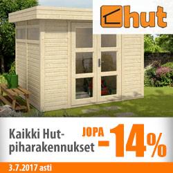 Hut-piharakennukset jopa -14%