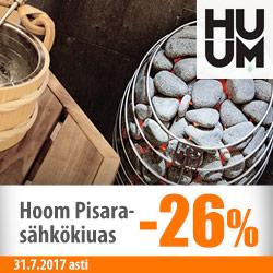 Huum Pisara -sähkökiuas -26%